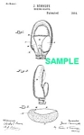 Click here to enlarge image and see more about item PAT1012AA4E: Patent Art: 1890s Early BOXING GLOVE - matted