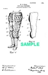 Click here to enlarge image and see more about item PAT1012AA5E: Patent Art: 1900s Football Trousers - Matted Print