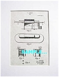Click here to enlarge image and see more about item PAT1012AA6X: Patent Art: 1930s FRANK LLOYD WRIGHT Desk -Matted Print