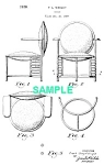 Patent Art: 1930s FRANK LLOYD WRIGHT Chair - Matted