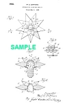 Click here to enlarge image and see more about item PAT1012CC2E: Patent Art: 1930s MATCHLESS STAR Christmas Light-Matted
