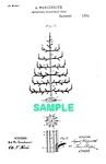 Patent Art: 1880s CHRISTMAS FEATHER TREE - Matted Print
