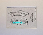 Click here to enlarge image and see more about item PAT1012DD8EX: Patent Art: 1957 Raymond Loewy BMW 507 AUTOMOBILE