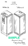 Patent Art: 1940s Loewy COCA COLA REFRIGERATOR - Matted