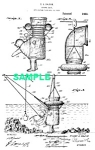 Click here to enlarge image and see more about item PAT1018AA2E: Patent Art: 1920s DIVING SUIT - Matted Print