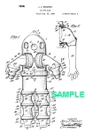 Click here to enlarge image and see more about item PAT1018AA9E: Patent Art: 1930s DIVING SUIT - Matted Print