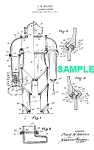 Click here to enlarge image and see more about item PAT1018BB2E: Patent Art: 1920 DIVING SUIT - Matted Print