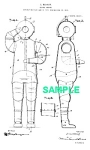 Patent Art: 1910s DIVING SUIT - Matted Print