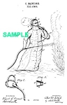 Click here to enlarge image and see more about item PAT1018CC2E: Patent Art: 1880s FIREMAN SUIT - Matted