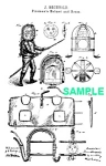 Click here to enlarge image and see more about item PAT1018CC3E: Patent Art: 1870s FIREMAN SUIT - Matted