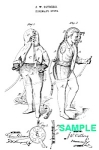 Click here to enlarge image and see more about item PAT1018CC4E: Patent Art: 1870s FIREMAN SUIT - Matted