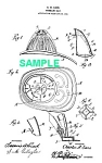 Click here to enlarge image and see more about item PAT1018CC5E: Patent Art: 1900s FIRE HELMET - Matted