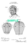 Click here to enlarge image and see more about item PAT1018CC6E: Patent Art: 1890s FIREMAN MASK - Matted