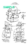 Click here to enlarge image and see more about item PAT1019AA2E: Patent Art: Early 1900s FIREMAN EQUIPMENT  -  Matted