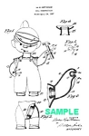 Patent Art: 1950s DENNIS THE MENACE DOLL - Matted Print