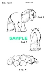 Click here to enlarge image and see more about item PAT1019AA6E: Patent Art: 1980s MY LITTLE PONY Toy - Matted Print