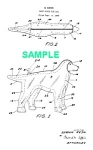 Click here to enlarge image and see more about item PAT1019AA8E: Patent Art: 1964 DUST COVER FOR DOGS!!