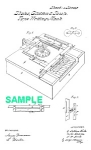 Click here to enlarge image and see more about item PAT1019BB2E: Patent Art: 1860s First? TYPEWRITER-matted for framing