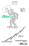 Click here to enlarge image and see more about item PAT1025AA2E: Patent Art: 1940s REDDY KILOWATT Character-  matted