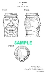 Click here to enlarge image and see more about item PAT1025AA8E: Patent Art: 1930s LUCKY JOE LOUIS Glass Bank-Boxing