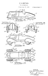 Click here to enlarge image and see more about item PAT1025AA9E: Patent Art: 1930s WYANDOTTE TOY AUTO - matted