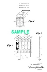 Click here to enlarge image and see more about item PAT1025BB1E: Patent Art: 1930s FEATURE SHAPED MATCHBOOKS B