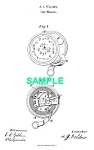 Click here to enlarge image and see more about item PAT1025BB5E: Patent Art: 1860s Fellows TAPE MEASURE-matted