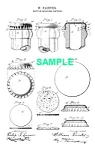 Click here to enlarge image and see more about item PAT1025BB7E: Patent Art: 1890s BOTTLE CAP - Matted Print