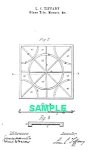 Patent Art: 1880s L C TIFFANY Glass Tile - Matted Print