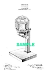 Click here to enlarge image and see more about item PAT1025DD4E: Patent Art: 1910s GLASS NUT DISPENSER - Matted Print