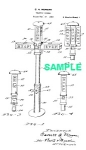 Click here to enlarge image and see more about item PAT1025DD6E: Patent Art: 1923 1st TRAFFIC SIGNAL - Matted Print