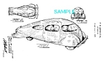 Click here to enlarge image and see more about item PAT1104B2: Patent Art: 1930s Streamlined AIROMOBILE Prototype