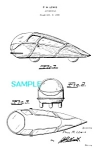 Click here to enlarge image and see more about item PAT1104B3: Patent Art: 1930s Streamlined AIROMOBILE Prototype