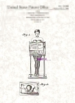 Click here to enlarge image and see more about item PAT1109A4: Patent Art: 1950s CIGARETTE GIRL VENDING MACHINE-matted