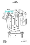 Patent Art: 1860s BURGLAR TRAP-matted