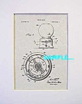 Click here to enlarge image and see more about item PAT1118A3: Patent Art: 1950s FORD GUMBALL MACHINE-matted