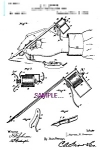Click here to enlarge image and see more about item PAT1118AA1-2006: Patent Art: 1890s Lewis Perforating Pen - TATTOO