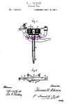 Click here to enlarge image and see more about item PAT1118AA2-2006-8x10: Patent Art: 1870s T. Edison Perforating Pen B - TATTOO