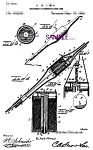 Click here to enlarge image and see more about item PAT1118AA4-2006-8x10: Patent Art: 1890s Lewis Perforating Pen - TATTOO -8x10