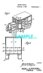 Click here to enlarge image and see more about item PAT1127AA2: Patent Art: 1933 Continental-Divco MILK TRUCK - matted