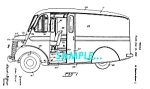 Click here to enlarge image and see more about item PAT1127AA5: Patent Art: 1942 Divco-Twin MILK TRUCK - matted