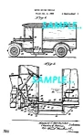 Click here to enlarge image and see more about item PAT1127AA6: Patent Art: 1935 Continental Divco MILK TRUCK - matted