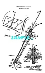 Click here to enlarge image and see more about item PAT1127BB3: Patent Art: Pre-War CROSLEY AUTOMOBILE ANTENNA - matted