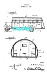 Click here to enlarge image and see more about item PAT1127BB4: Patent Art: 1938 SCHOOL BUS - Matted Print