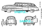 Click here to enlarge image and see more about item PAT1127CC8: Patent Art: 1953 CADILLAC FUNERAL CAR - matted