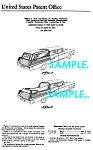 Click here to enlarge image and see more about item PAT1127CC9: Patent Art: 1958 CADILLAC FUNERAL CAR - matted