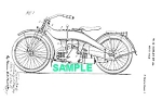 Click here to enlarge image and see more about item PAT1220AA1E: Patent Art: 1924 HARLEY DAVIDSON Motorcycle-  matted