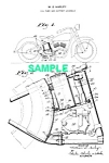 Click here to enlarge image and see more about item PAT1220AA2E: Patent Art: 1930s HARLEY DAVIDSON Motorcycle Tank