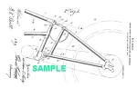 Click here to enlarge image and see more about item PAT1220AA3E: Patent Art: 1918 HARLEY DAVIDSON Motorcycle Frame