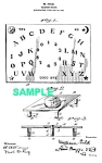Click here to enlarge image and see more about item PAT1220BB2: Patent Art: 1910s Fuld OUIJA BOARD - matted